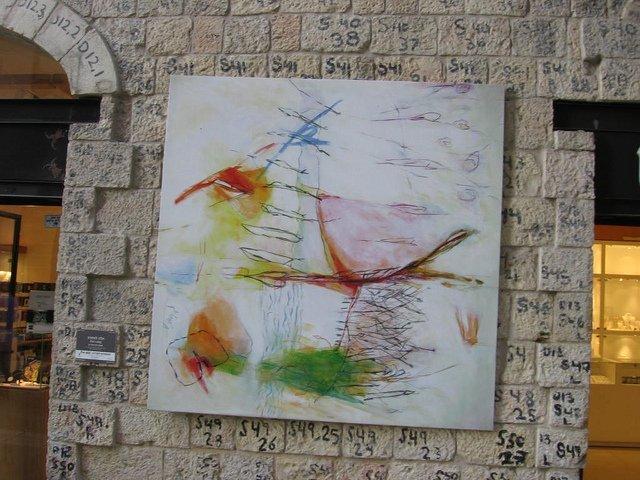 Numbered Stones-Mamilla neighborhood of Jerusalem